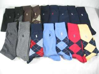 Mens Polo Ralph Lauren Pony Dress Socks Black, Navy, Blue, Brown, Gray