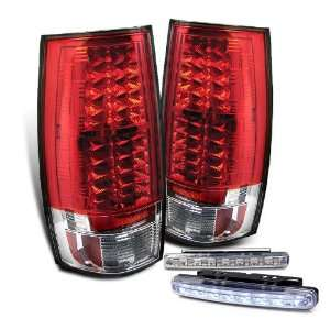 Eautolights 07 10 Suburban Tahoe Yukon LED Tail Lights + Bumper Fog