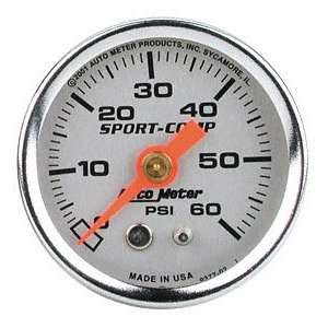 Auto Meter 2179 Auto Gage Silver 1 1/2 0 60 PSI Mechanical Fuel