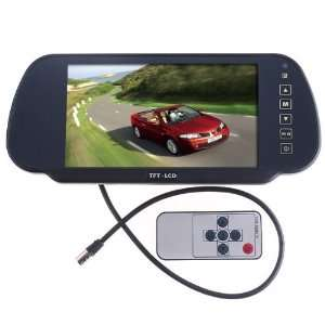 7 Color TFT LCD Car Rearview Monitor for Camera DVD VCR Car