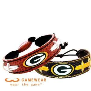 Football Bracelet & Green Bay Packers Team Color NFL Football Bracelet