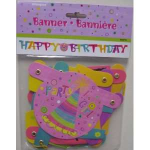 Party Girl Happy Birthday Jointed Banner Health