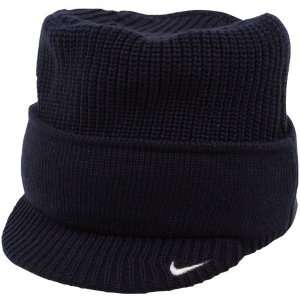 Nike Nevada Wolf Pack Navy Blue Cuffed Bill Knit Beanie