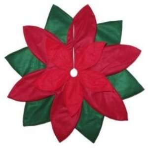 Red Felt Poinsettia Christmas Tree Skirt 48 Inch