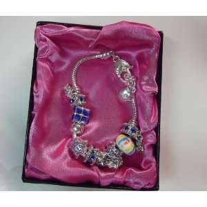Crystal Stone Charm Bracelet With Clasp Colour Blue Crystals Home