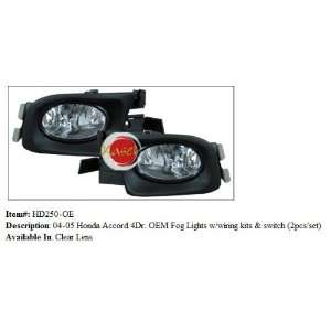 Honda Accord 4DR OEM Fog Lights with Wiring Kit and Switch Automotive