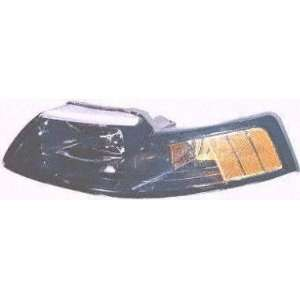 01 04 FORD MUSTANG HEADLIGHT LH (DRIVER SIDE), BLACK BEZEL