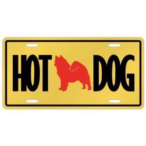 New  Samoyed   Hot Dog  License Plate Dog
