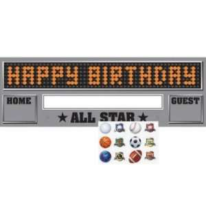 Creative Converting Team Sports Giant Happy Birthday Party