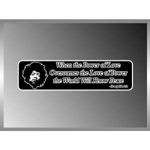JIMMY HENDRIX PEACE QUOTE VINYL DECAL BUMPER STICKER 2 X