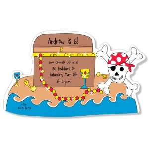 Childrens Birthday Party Invitations   Treasure Island Party