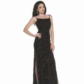 Black Beaded Dresses. Formal Evening Gown. Black Prom