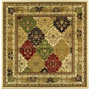 Collection LNH221A Square Area Rug, 8 Feet, Multicolor