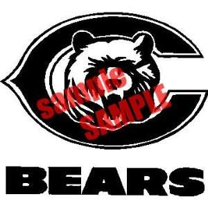 CHICAGO C BEARS TEAM NFL WHITE VINYL DECAL STICKER