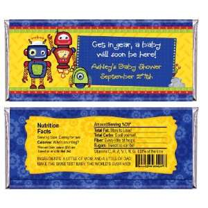 Robots   Personalized Candy Bar Wrapper Baby Shower Favors Toys