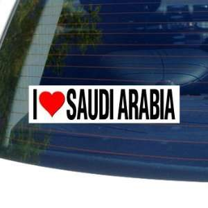 I Love Heart SAUDI ARABIA   Window Bumper Sticker