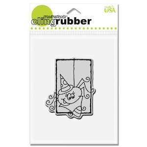 Cling Rubber Stamp, Spider Corn Image Arts, Crafts & Sewing