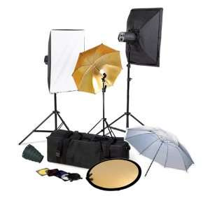 Studio Monolight Flash Lighting Kit with Carrying Case   3 Studio