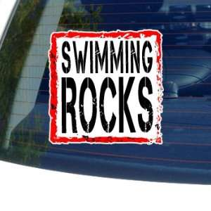 Swimming Rocks   Window Bumper Laptop Sticker Automotive