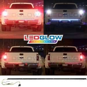 LEDGLOW 60 Red & White LED Tailgate Light Bar Automotive