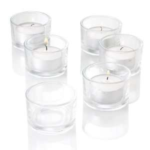 Set of 72 Clear Glass Tealight Candle Holders