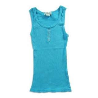 Slightly Irregular So Nikki   Girls Ribbed Tank Top, Turquoise (Size