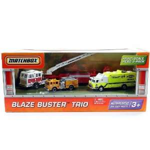 Matchbox Fire Truck Die cast Vehicle 3 Pack  Toys & Games