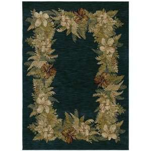 Tommy Bahama Rugs Home Nylon Border Bouquet Navy Multi