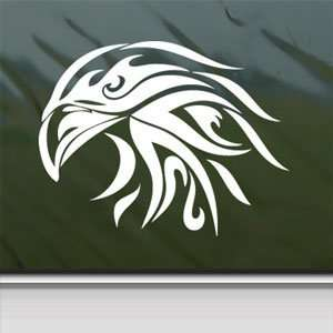 BALD EAGLE White Sticker Tribal Car Vinyl Window Laptop