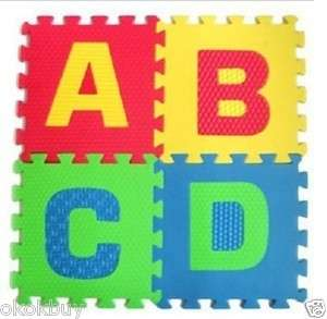 36Pcs Foam Letter Alphabet Number Puzzle Floor Mat TOY 15cm 17cm 30cm