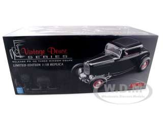 of 1932 Ford 3 Three Window Coupe Black die cast model car by GMP