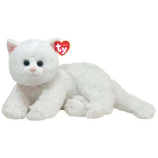 TY Classic Plush CRYSTAL White Persian Cat ~BRAND NEW~ 008421100361