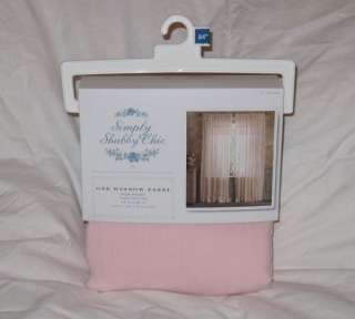 Rachel Ashwell Simply Shabby Chic Pink Ruffle Gauze Window Panel NEW