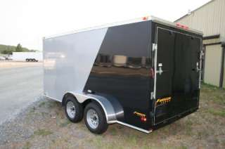 NEW 7X14 TANDEM AXLE ENCLOSED CARGO MOTORCYCLE TRAILER