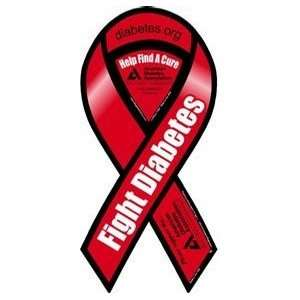 Fight Diabetes   4 x 8 Awareness Ribbon Magnet