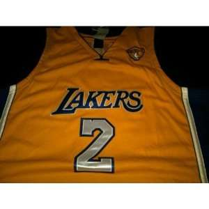 Derek Fisher Authentic Gold Home Jersey Sizes 54