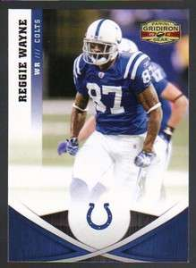 2011 Panini Gridiron Gear Football #41 Reggie Wayne Indianapolis Colts