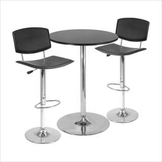 Winsome Spectrum Bar Height Table w/2 Adjustable Air Lift Stools Pub