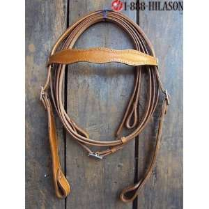 Leather Tack Horse Bridle Headstall Reins 016