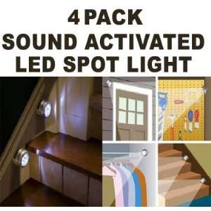 Wireless Sound Activated Sensor Light  Bright LED   Install Anywhere