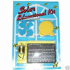 Solar Panel Education Kit,Science kit, Motor, Fan cell